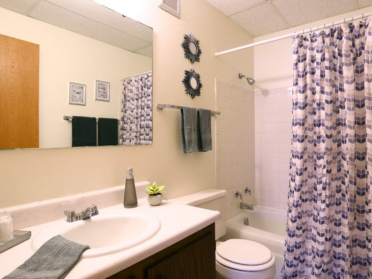 Model Bathroom at Town and Country Apartments in Urbana, IL