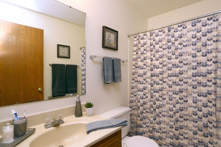 bathroom at Town and Country Apartments Urbana, IL