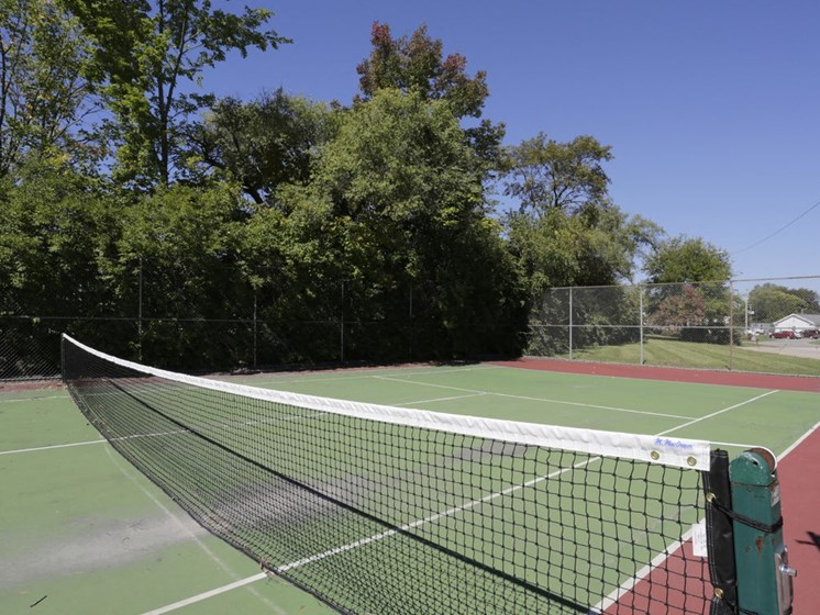 Tennis net Town and Country Apartments Urbana, IL