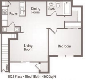 A2 Floor Plan 1825 Place Apartments