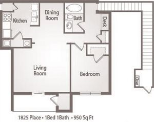 A3 Floor Plan 1825 Place Apartments