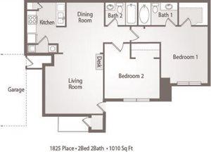 B1 Floor Plan 1825 Place Apartments