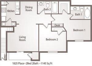 B4 Floor Plan 1825 Place Apartments