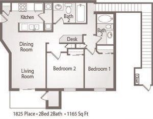 B5 Floor Plan 1825 Place Apartments