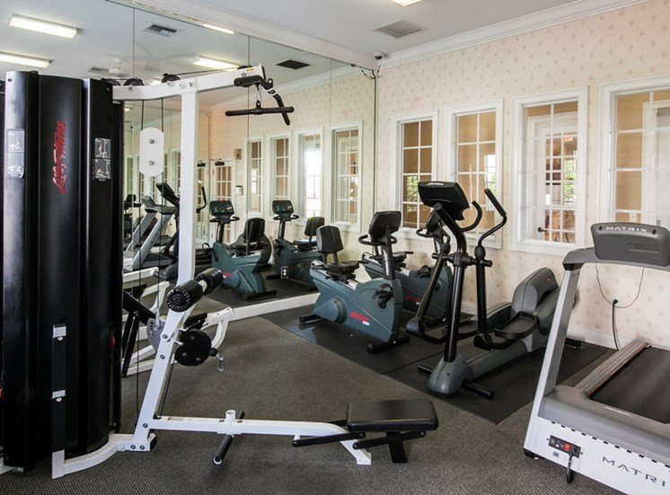 Get-Fit Gym at Berkshire Club, for more communities, visit Concord Rents at ConcordRents.com