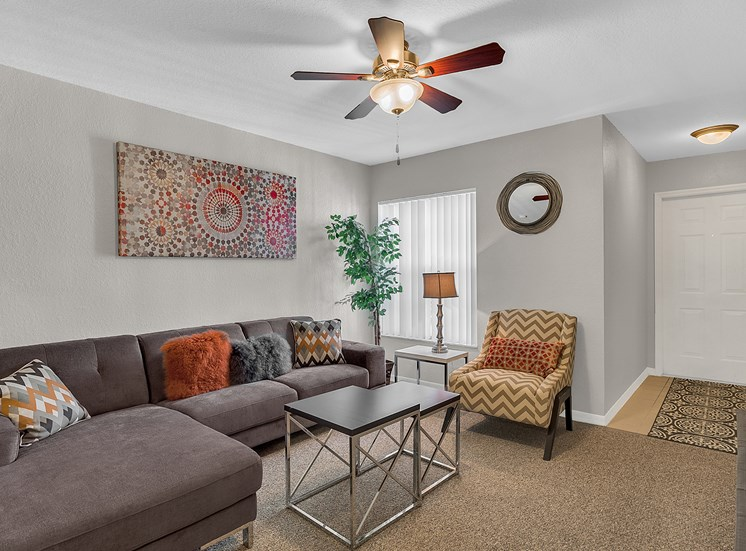 Bridgewater Club Apartments for rent in Spring Hill, FL. Make this community your new home or visit other ConcordRENTS communities at ConcordRENTS.com. Living room