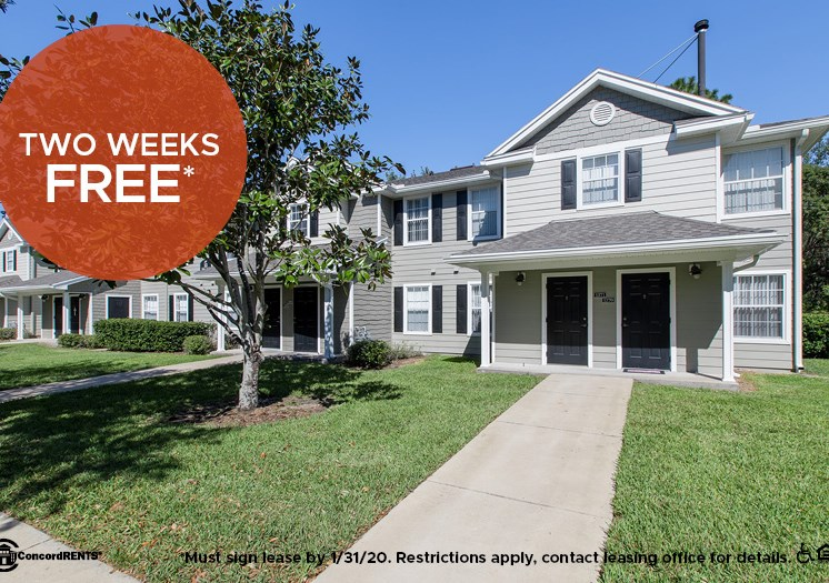 2 Weeks free on Select Apartment Homes Must sign lease by 1/31