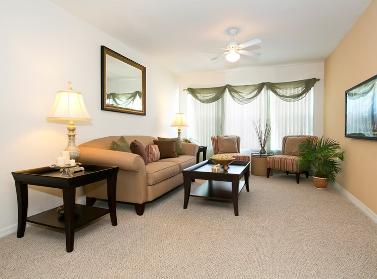 Brookwood Forest Apartments for rent in Jacksonville, FL. Make this community your new home or visit other ConcordRENTS communities at ConcordRENTS.com. Living room