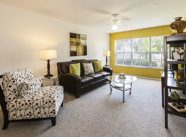 Charleston Club Apartments for rent in Sanford, FL. Make this community your new home or visit other Concord Rents communities at ConcordRents.com. Living room