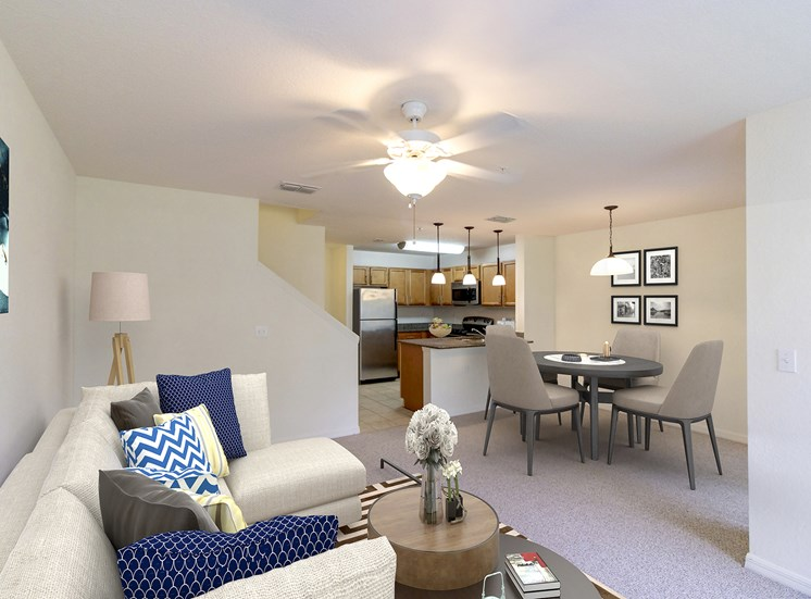 Covington Club Apartments for rent in Oviedo, FL. Make this community your new home or visit other Concord Rents communities at ConcordRents.com. Living room