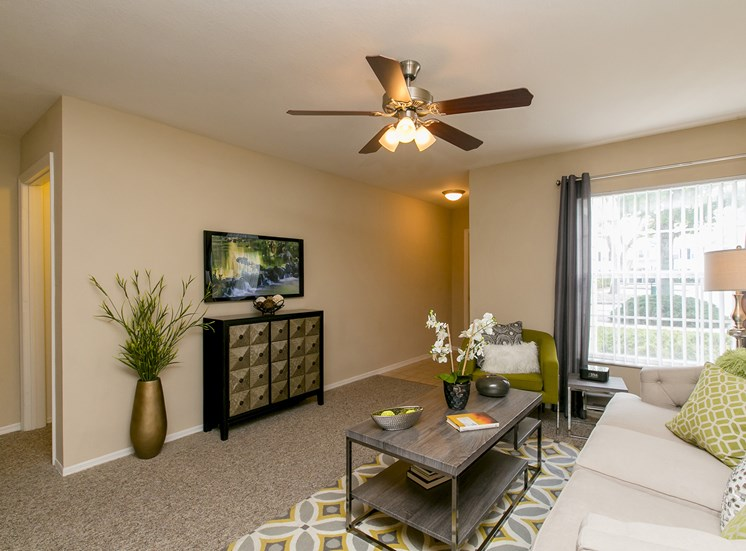 Living Room at Hatteras Sound, for more communities, visit Concord Rents at ConcordRents.com