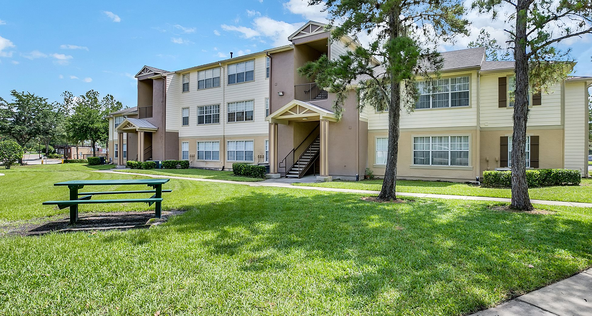 Heritage Pines Apartments for rent in Tampa, FL. Make this community your new home or visit other Concord Rents communities at ConcordRents.com. Building exterior