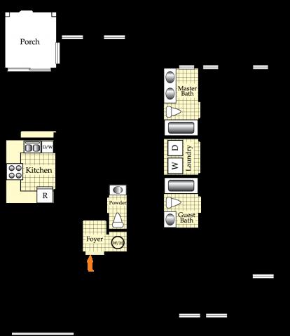 3 Bedroom 2.5 Bath Floor Plan 1