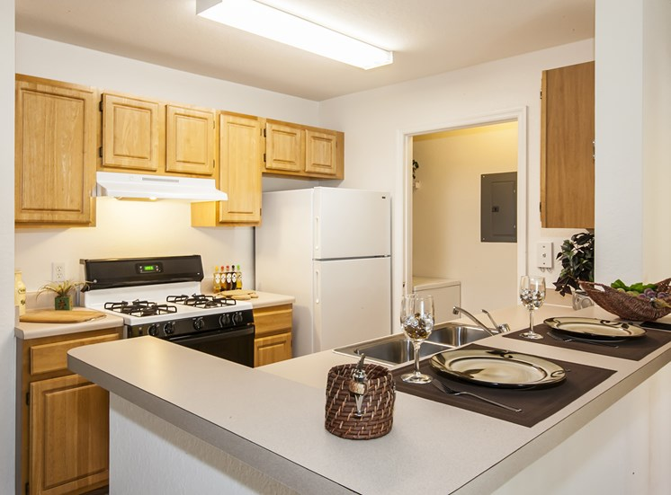 Kitchen at Mystic Cove, for more communities, visit Concord Rents at ConcordRents.com