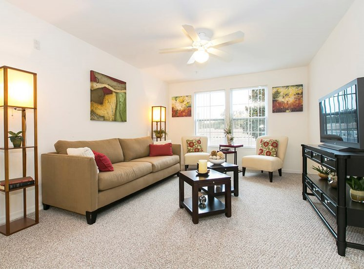 Taylor Place Apartments for rent in Deland, FL. Make this community your new home or visit other Concord Rents communities at ConcordRents.com. Living room