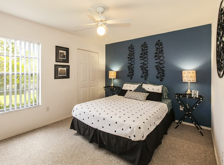 Bedroom at University Club, for more communities, visit Concord Rents at ConcordRents.com