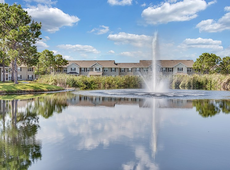 Village at Cortez Apartments for rent in Bradenton, FL. Make this community your new home or visit other ConcordRENTS communities at ConcordRENTS.com. Lake view with buildings