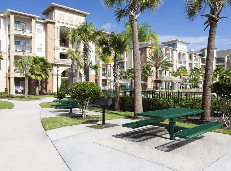 Fountains at Millenia Apartments for rent in Orlando, FL. Make this community your new home or visit other Concord Rents communities at ConcordRents.com. Picnic area