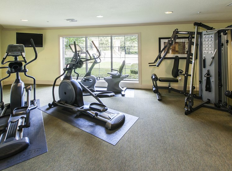 Fitness center at Oviedo Town Centre. For more communities, visit Concord Rents at ConcordRents.com