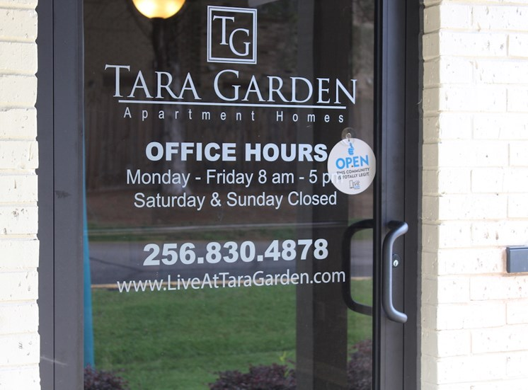 Tara Garden Apartments in Huntsville, Alabama is professionally managed by on-site staff