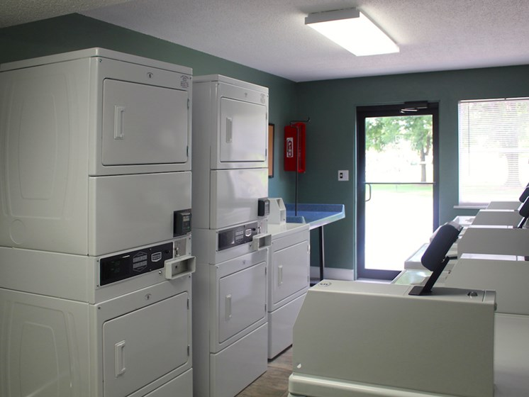 Tara Garden Apartments in Huntsville, Alabama washers and dryers in clothing care facility