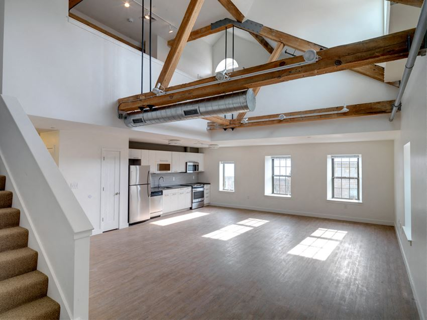 Townhouse apartment rentals at Ames Shovel Works in Easton, MA