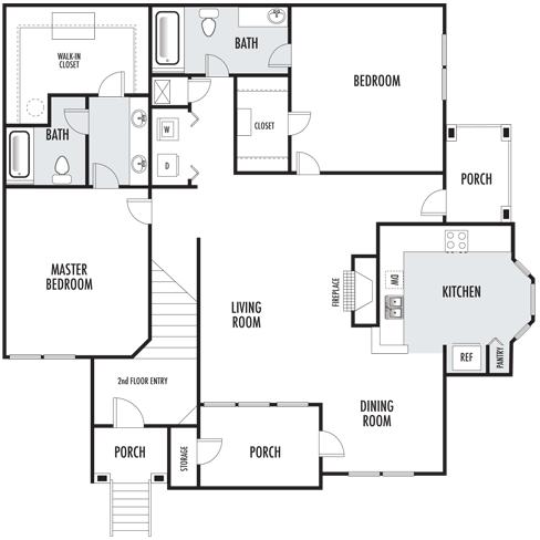 The Berkley Floor Plan 3