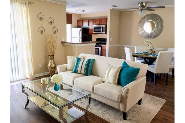 The New Madison at Adams Farm Greensboro, NC Apartments Living Room