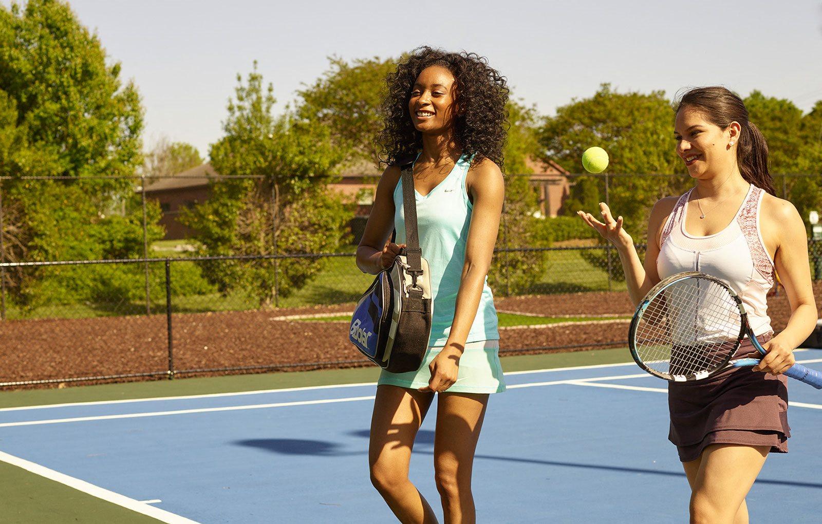 The New Madison at Adams Farm Greensboro, NC Apartments Tennis Court