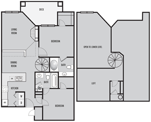 Two Bedroom with Loft