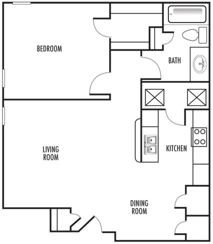 1x1 Washer Dryer Floor Plan 3