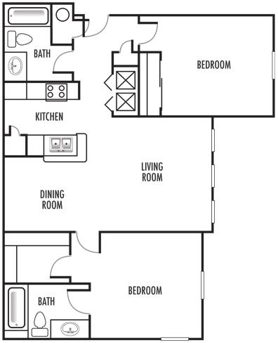 2x2 Washer Dryer Floor Plan 7