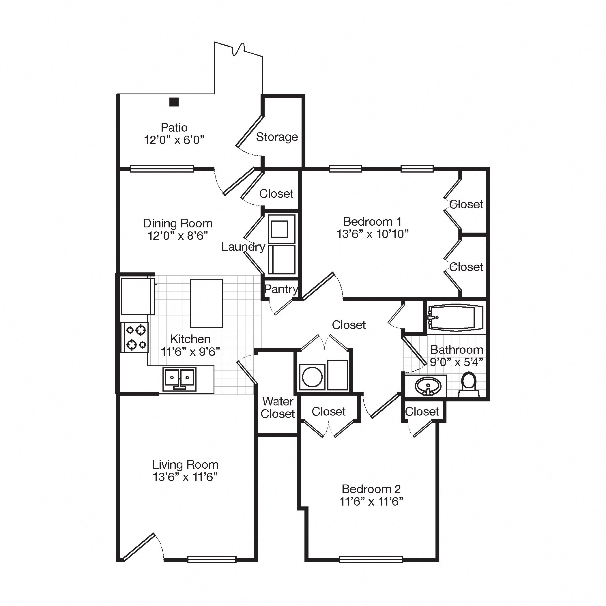 Bedford Hill Apartments: Floor Plans Of Bedford Hill Apartments In Pittsburgh, PA