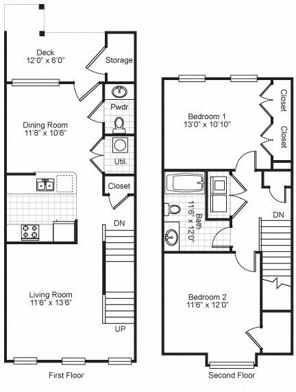 Two Bedroom Townhouse (Type A) Floor Plan 3