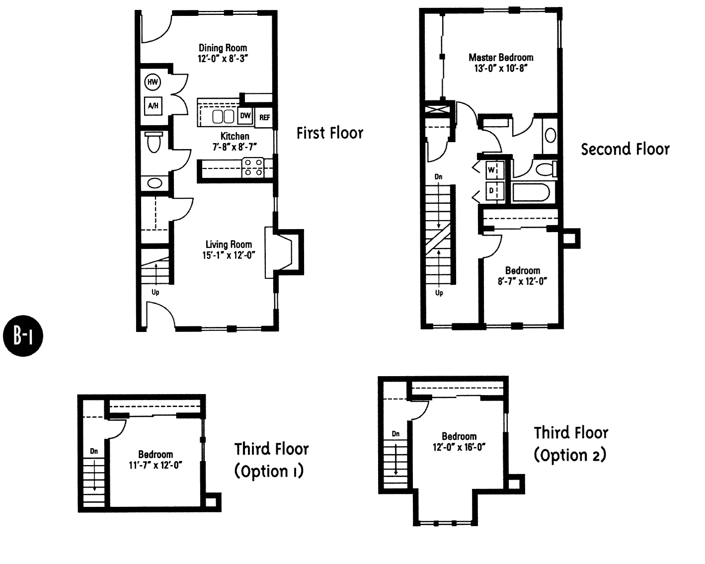 Crawford Square Floor Plans