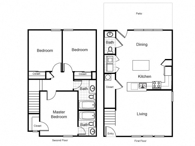 three bedroom townhouse contact for availability