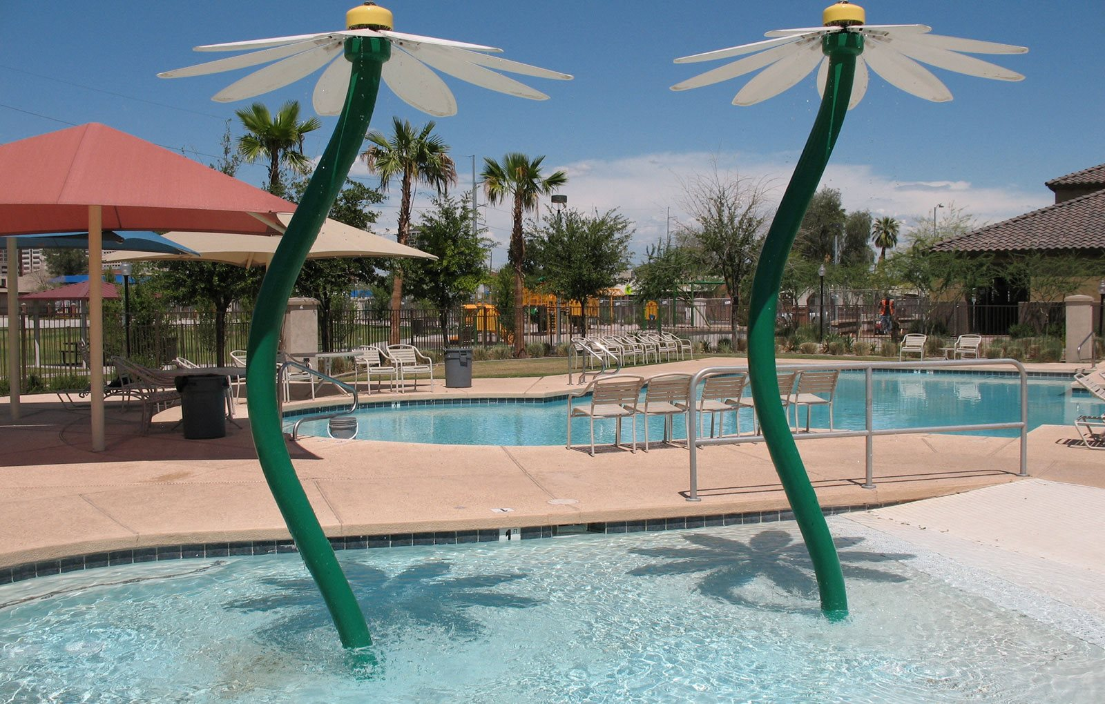 Sparkling Pool and Children's Pool with Fountain-Matthew Henson Apartments, Phoenix, AZ