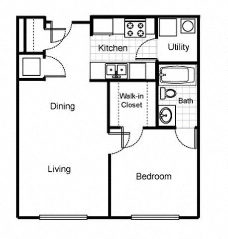 Floor Plans of Jazz District Apartments in Kansas City, MO