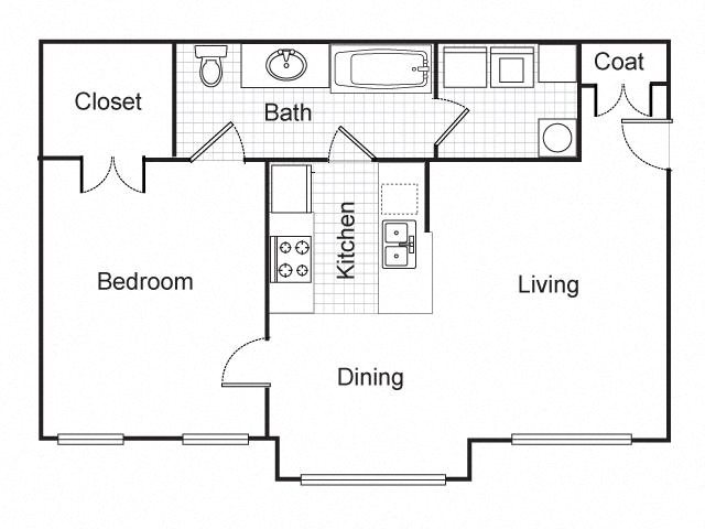 Floor Plans of Longfellow Heights Apartments in Kansas City, MO