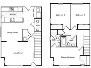 Metropolitan Village and Cumberland Manor Apartments Floor Plans
