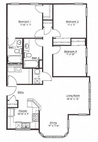 Murphy Park Apartments Floor Plans