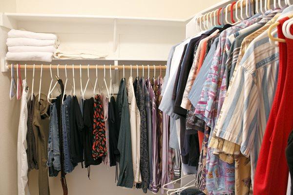 spacious closet