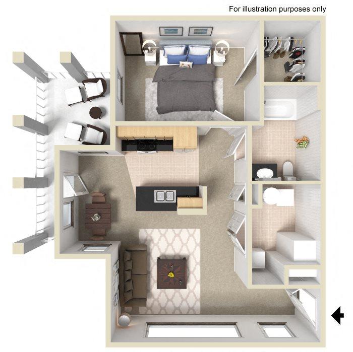 Floor Plans Of University Place Apartments In Memphis, TN