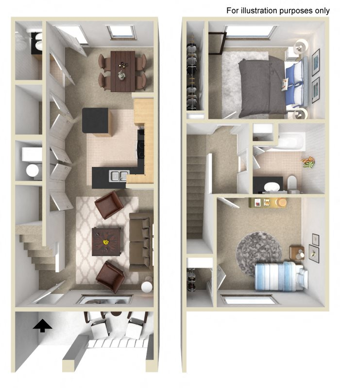 University Plaza Apartments: Floor Plans Of University Place Apartments In Memphis, TN