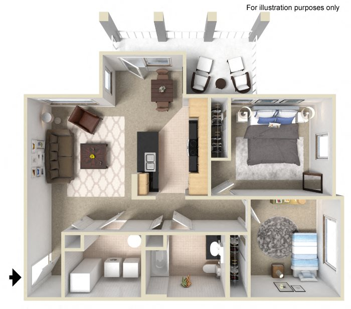 Floor Plans Of University Place Apartments In Memphis, TN