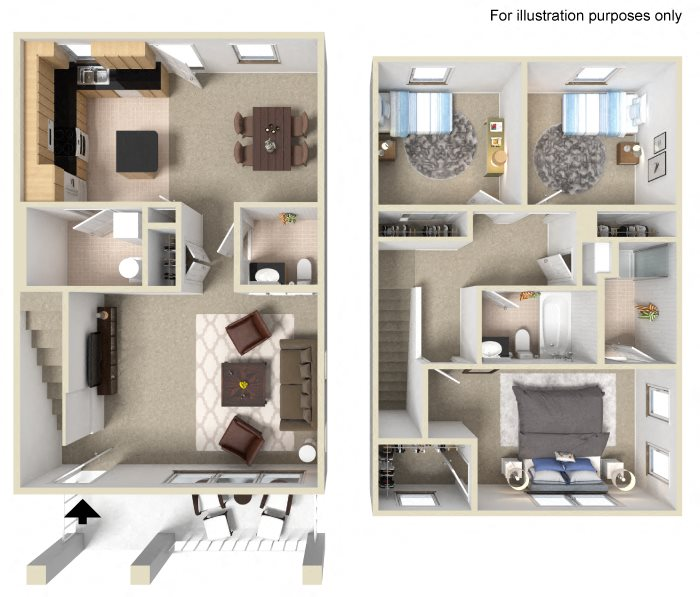 University Place Apartments Floor Plans