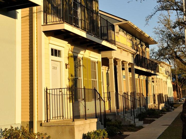 Exterior of apartment buildings_Lafitte,New Orleans, LA