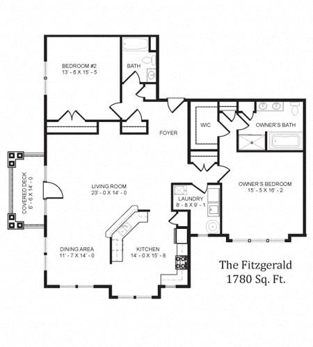 The Fitzgerald Floor Plan in 3D