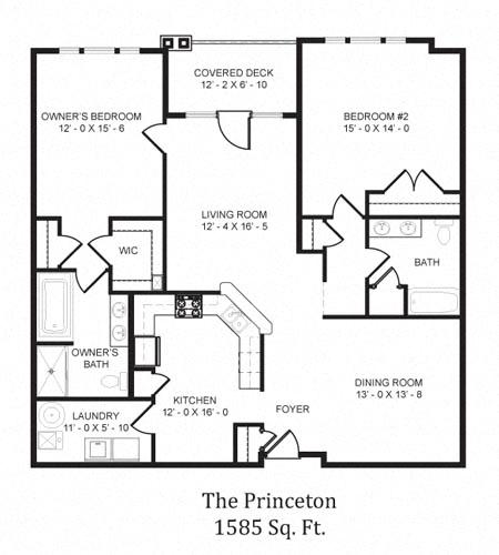 The Princeton Floor Plan in 3D