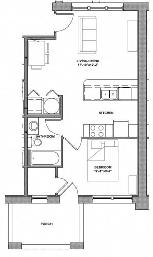 1 Bedroom - Style A